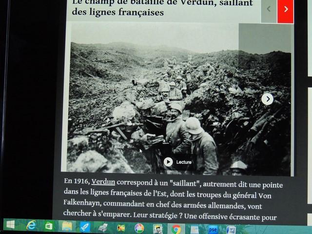 Les soldats dans les tranchées , champ de bataille de Verdun