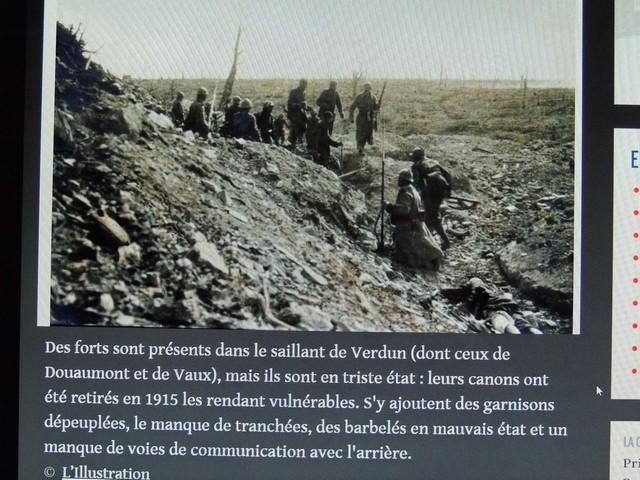 Vu du terrain pendant la bataille