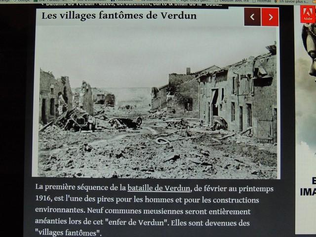 """Les ruines d'un village après dette bataille """"de Verdun"""""""