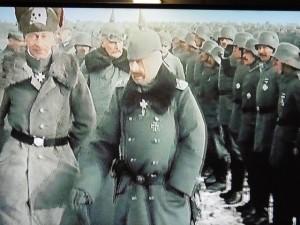 Une revue des troupes allemandes par leur Général