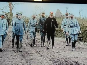 Les généraux et Lt-Colonel Driant en inspection