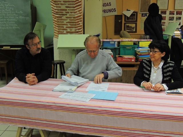 A la table nous retrouvons le Président au centre assisté de Laurence Maïoroff à sa gauche et Gérard Vardon à droite