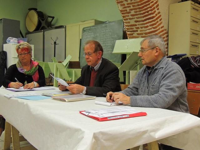 La secrétaire UDSM 47 Marie-Laure Piva; Jeab-Claude Fondriest Président; François Prêleur Secrétaire