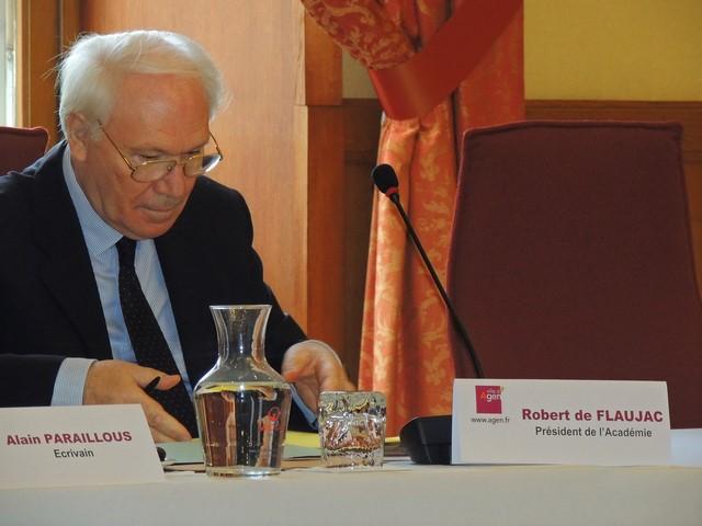 Le Président de l'Académie Monsieur Robert de Flaujac