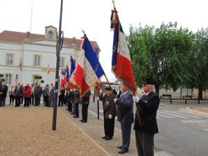 L'alignement des porte-drapeaux