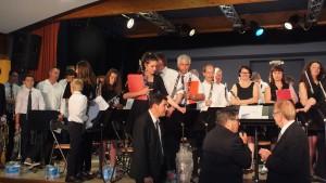 Notre Président, Jean-Claude Fondriest  remercie les musiciens et notre Trésorier  entre autre, Jean-Luc Lestruhaut