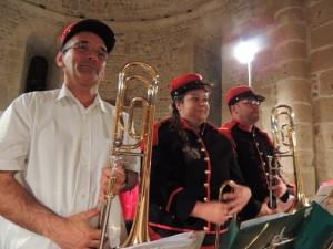 Les trois trombones ,de g. à d. : Jean-Michel, Aurore et Frédéric à droite.