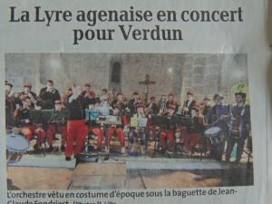 Les musiciens de La Lyre avec leur Chef Jean-Claude Fondriest