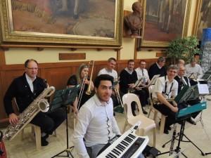 """Les musiciens """"tout sourire"""", ils sont sympas"""