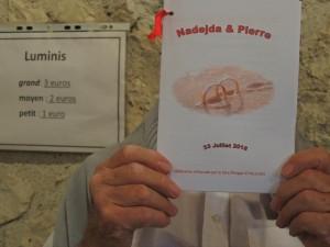Le faire-part de mariage de Nadejda et Pierre - célébration par le père Philippe D'HALLUIN