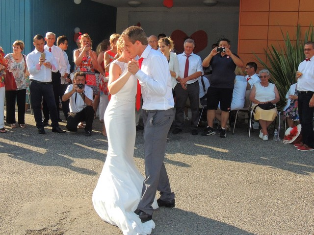 Nous avons eu le plaisir de faire valser les mariés sur un air de valse