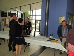 Le Maire reçoit les invités