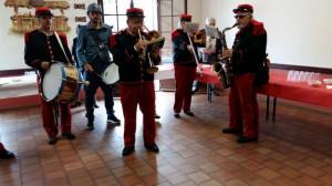 Pendant l'apéritif les musiciens ont bien sûr animé  brillamment cette inauguration