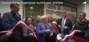 Le ruban est coupé Ont peut ouvrir les portes de l'Association 3, rue Bartayrès à Agen.