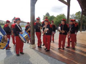 Les musiciens en tenue 14-18 .
