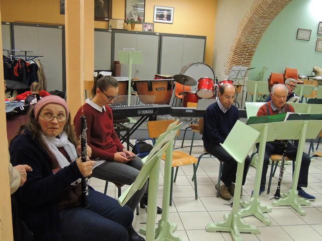 """Et voilà , la """"petite musique"""" est en place (je viendrais en place après Julien à la clarinette)"""