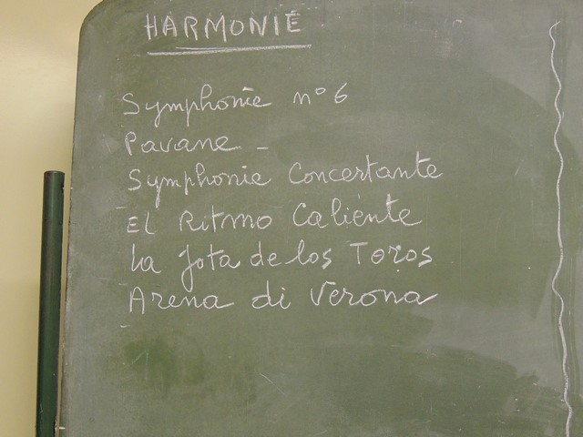 """Partitions du répertoire  """"Harmonie"""" fin 2016 et 2017"""