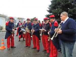 Le pupitre des trompettes sous la direction de Jean-Claude Fondriest plus spécialement pour l'exécution des sonneries