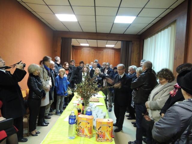 Le Président Jean-claude Fondriest ouvre cette cérémonie traditionnelle