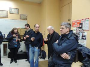 En me retournant je retrouve Didier Jean-Luc et Michel et derrière Pierre et Adrienne