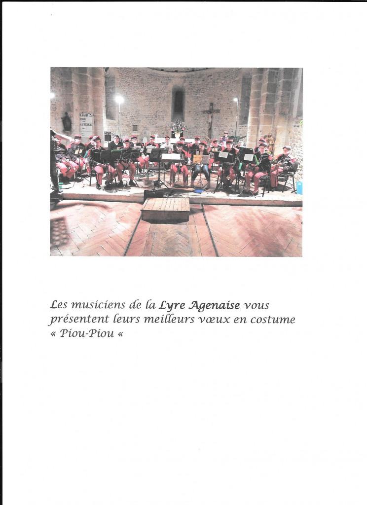 Les musiciens présentent leurs meilleurs vœx avec la photo prise en concert à Sérignac sur Garonne