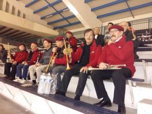 Photo prise dans l'autre sens font voir Jean-Louis,Gérard et le Chef à la trompette