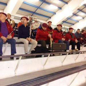 Les musiciens sont très attentifs durant le match, pour faire des interventions musicales bien ciblées