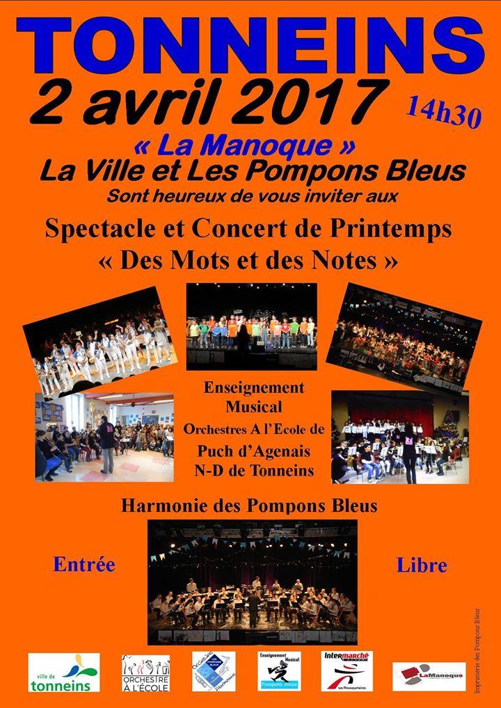 Spectacle et Concert de Printemps à Tonneins