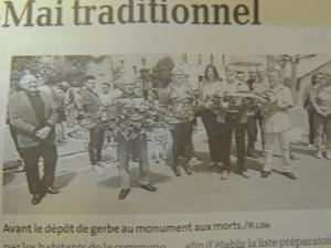 A Ste Colombe en Bruilhois le Maire et les représentants des autorités  pour une cérémonie traditionnelle à laquelle nous sommes toujours amicalement conviés