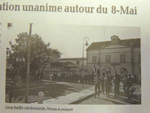 """L'ouverture de la cérémonie à Le Passage d'Agen, avec les musiciens  de La Lyre en tenue """"militaire 14-18"""""""