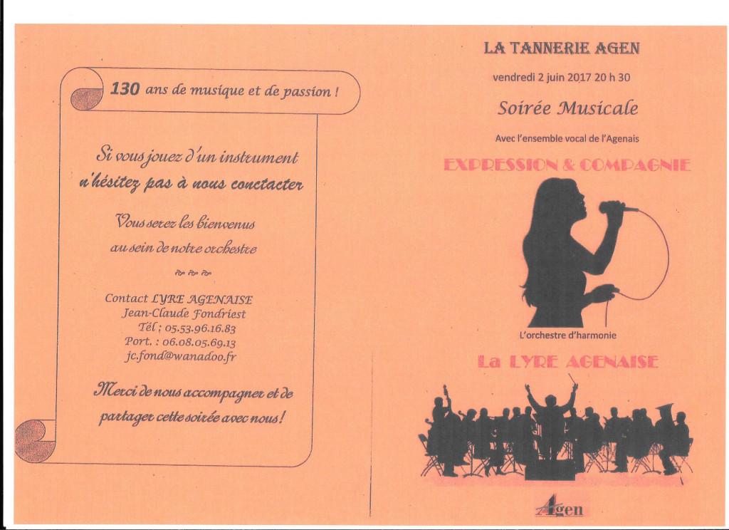 La Soirée Musicale avec l'ensemble vocal de l'Agenais  EXPRESSION ET COMPAGNIE et l'orchestre d'harmonie La LYRE AGENAISE