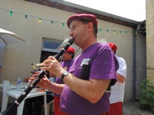 Jean-Luc très sérieux à la clarinette