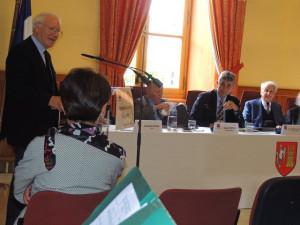 La présentation de cette réunion du Jasmin d'Argent, par le Président Monsieur Robert de Flaujac en présence de M Jean Dionis du Séjour, Maire d'Agen et des membres de cette Société