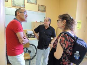 Jean-Michel parle avec Véronique DAVID, Correspondante de presse