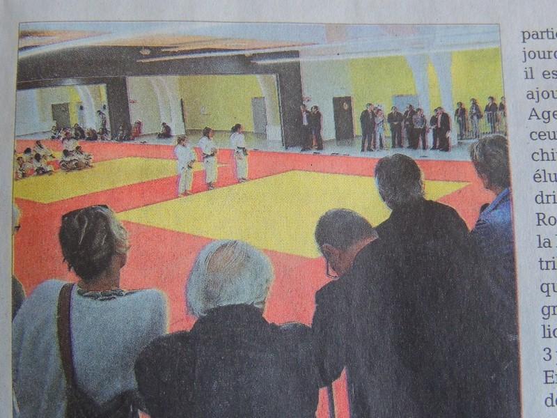 Les démonstrations de jeunes judokas dans une magnifique salle propice à leur épanouissement.
