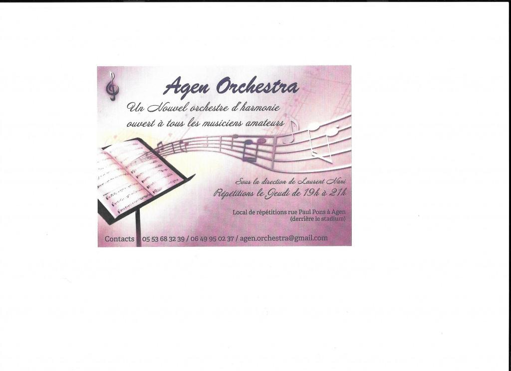 Agen Orchestra Un Nouvel orchestre d'harmonie est né !