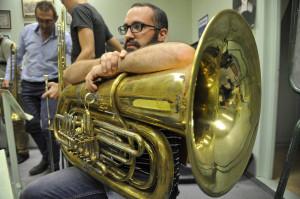 Franz Kasmayer un ancien de la Lyre, qui revient jouer pour montrer son amitié et sa volonté de jouer au sein de ce nouvel orchestre