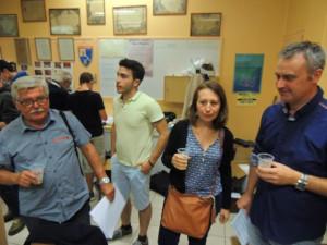 Nous trouvons Daniel, Elodie , Eric et Vladimir derrière très satisfaits