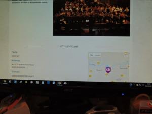 Les  coordonnées et contact de l'orchestre dont le chef est Patrice Larcher frère aîné de Eric trompette à Agen Orchestra