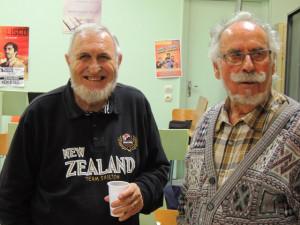 Je retrouve ensemble les anciens! Alain Tourrès et Jacques Ortal tous deux très content d'être là!