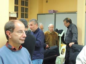 Jean-Luc,notre trésorier, au fond de la photo Michel Sarrus et Gérard Vardon