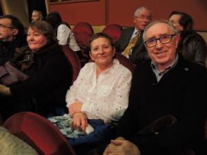 Juste derrière, à ma droite étaient assis Clément Baron et son épouse  et encore à droite se trouvaient Françoise Vardon et Gérard à sa droite