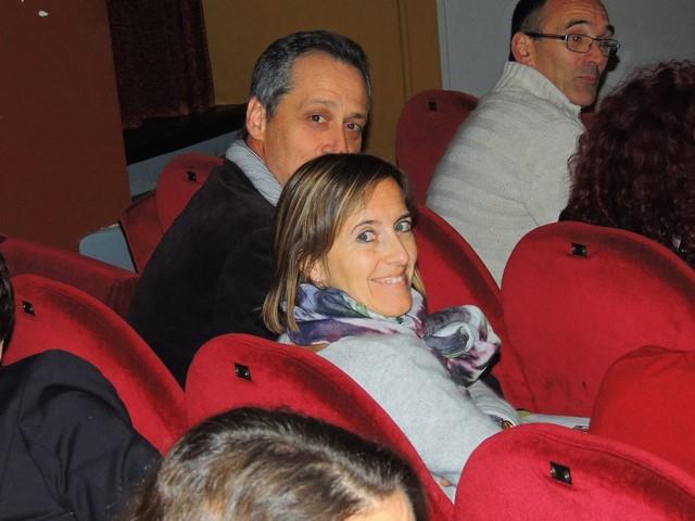 Bénédicte très souriante et Gilles son mari, clarinette comme moi...