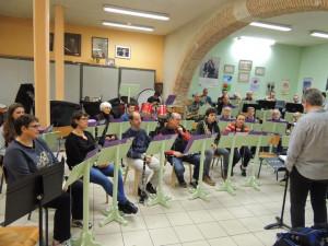 Les musiciens très attentifs