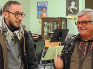 Et encore ensemble Gauthier qui,à la demande du Chef est passé à la Clarinette basse et Daniel, lui au Sax baryton