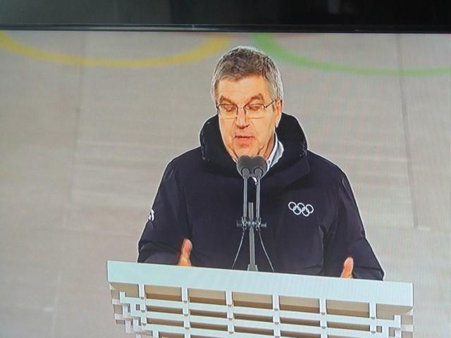 Allocution de clôture des Jeux par Thomas BACH, Président du C.I.O.)