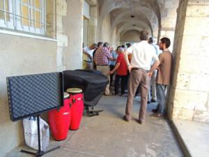 Le matériel prêt à être emporté pour le concert à Condom samedi 30 juin