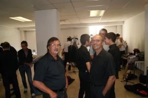 Devant Gérard Vardon et Alain Alicot