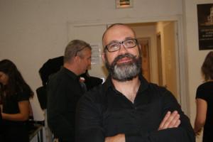 L'ami Franz souriant sous sa barbe!