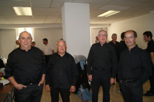 Jean-Michel, Julien, Clément et Jean-Luc
